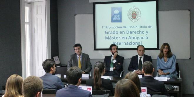 Arranca la 1ª Promoción del Doble Título del Grado en Derecho y Máster en Abogacía Internacional ISDE – UCM