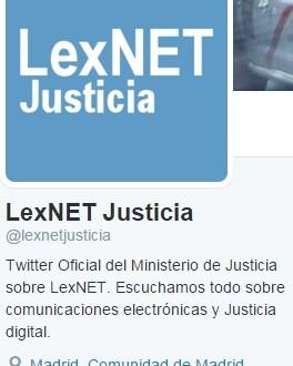 LexNET también tiene Twitter
