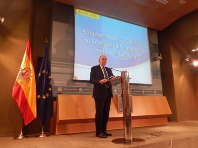 La tasa de criminalidad en España se sitúa en mínimos históricos
