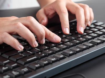 Teclado ordenador escribir digital