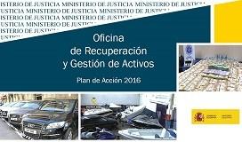 La Oficina de Recuperación y Gestión de Activos gestiona bienes embargados y decomisados por valor de 23 millones de euros