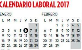 Se publica en el BOE el calendario laboral para 2017