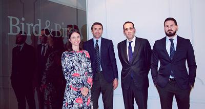 El despacho internacional Bird & Bird promociona a cuatro nuevos Counsels y nombra nuevos directores de área en la oficina de Madrid