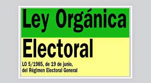 Se modifica la Ley del Régimen Electoral General para el supuesto de convocatorio automática de elecciones