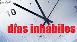 Se establece el calendario de días inhábiles, a efectos de cómputos de plazos administrativos, para 2017