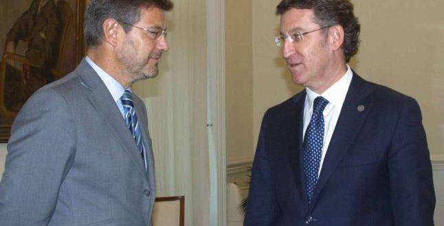Catalá y Núñez Feijóo renuevan su compromiso con la modernización de la Administración de Justicia de Galicia