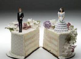 Las separaciones y divorcios se redujeron casi un 8 % en el tercer trimestre de este año
