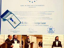 Alexandru Lazar recibe La Medalla Europea de Oro al Mérito en el Trabajo