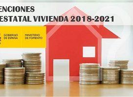 Entre el Estado y las CCAA se destinarán 1.770,25 millones de euros para subvenciones a la vivienda durante el periodo 2018-2021