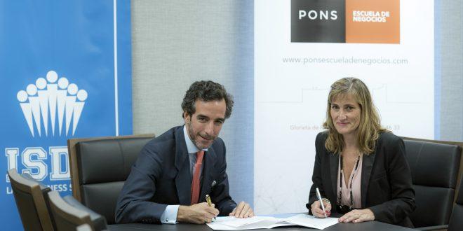 ISDE y PONS firman un acuerdo estratégico para impartir programas máster