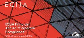 La publicación Global Law Experts ha reconocido a ECIJA como la mejor firma en Corporate Compliance