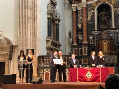 D. Alfonso Ortega Giménez recibe la Cruz al Mérito Académico y Reconocimiento al mérito universitario