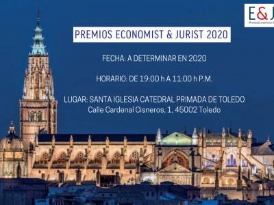 Se aplazan los Premios Economist Jurist 2020, con fecha a determinar en función de la evolución de la actual alerta sanitaria