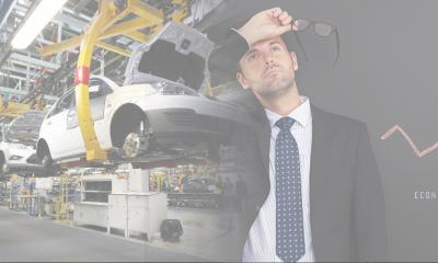 Producción industrial cae