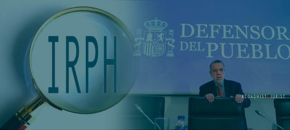 IRPH: El Defensor del Pueblo propone un sistema extrajudicial para evitar el colapso de los tribunales